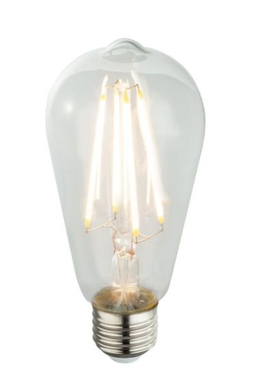 Energy saving (LED) light bulb E27 clear 6W 3000k/580lm Globo 11399