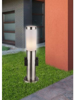 Outdoor floor lamp with an outlet BOSTON Globo 3158k
