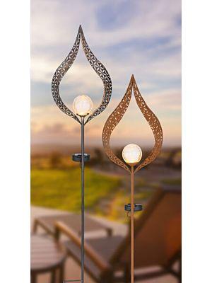 LED Outdoor solar lamp Globo SILVER 334670S