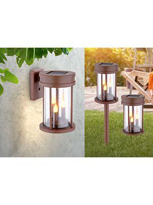 LED Outdoor solar floor/wall lamp Globo FLEXIBLE 3xLED 36702